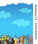 cartoon city look with terrain... | Shutterstock . vector #117945430