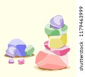 cartoon flat illustration a set ... | Shutterstock .eps vector #1179463999