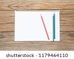 blank page of a sketchbook with ... | Shutterstock . vector #1179464110