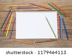 blank page of a sketchbook with ... | Shutterstock . vector #1179464113