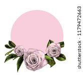 round frame decorated with rose ... | Shutterstock .eps vector #1179472663