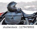 helmet and motorcycle | Shutterstock . vector #1179478903