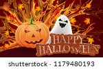halloween composition with a... | Shutterstock .eps vector #1179480193