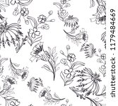 seamless pattern with vintage... | Shutterstock .eps vector #1179484669