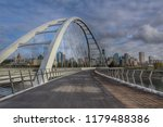 scenic bridge walkway  | Shutterstock . vector #1179488386