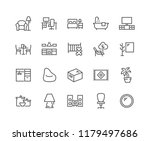 simple set of home room types... | Shutterstock .eps vector #1179497686