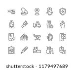 simple set of medical... | Shutterstock .eps vector #1179497689