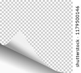 transparent paper sheet with... | Shutterstock .eps vector #1179500146
