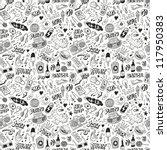 music   seamless background   Shutterstock .eps vector #117950383