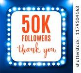 50k followers  social media... | Shutterstock .eps vector #1179504163