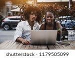 young interracial couple  cute... | Shutterstock . vector #1179505099