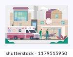 medicine ambulance concept in...   Shutterstock .eps vector #1179515950