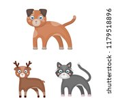 toy animals cartoon icons in... | Shutterstock . vector #1179518896