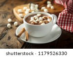 hot chocolate with marshmallow | Shutterstock . vector #1179526330