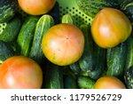 green grocery vegetables ... | Shutterstock . vector #1179526729