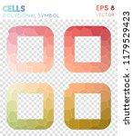 th large outline polygonal... | Shutterstock .eps vector #1179529423