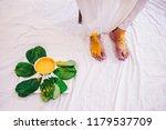indian groom getting the haldi... | Shutterstock . vector #1179537709