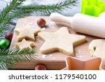 cooking christmas cookies... | Shutterstock . vector #1179540100