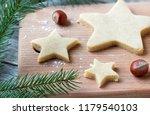 cooking christmas cookies... | Shutterstock . vector #1179540103