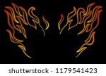 stylized and minimalist fire... | Shutterstock .eps vector #1179541423
