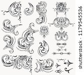 collection of decorative vector ... | Shutterstock .eps vector #1179545536