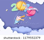 color paper cut design and... | Shutterstock .eps vector #1179552379