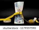 turkish lira is tightened with... | Shutterstock . vector #1179557590