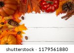 Fall Border Background On A...