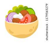 fresh falafel in pita.... | Shutterstock .eps vector #1179565279