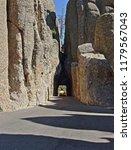 Needles Eye tunnel in Custer State park, Black Hills, South Dakota