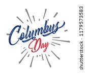 happy columbus day. the trend... | Shutterstock .eps vector #1179573583