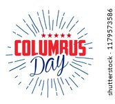 happy columbus day. the trend... | Shutterstock .eps vector #1179573586