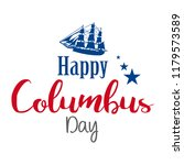 happy columbus day. the trend... | Shutterstock .eps vector #1179573589