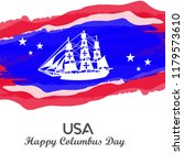 happy columbus day. the trend... | Shutterstock .eps vector #1179573610