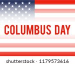 happy columbus day. the trend... | Shutterstock .eps vector #1179573616