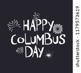 happy columbus day. the trend... | Shutterstock .eps vector #1179573619