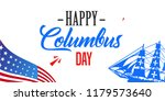 happy columbus day. the trend... | Shutterstock .eps vector #1179573640