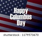 happy columbus day. the trend... | Shutterstock .eps vector #1179573670