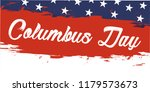 happy columbus day. the trend... | Shutterstock .eps vector #1179573673