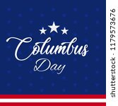 happy columbus day. the trend... | Shutterstock .eps vector #1179573676