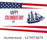 happy columbus day. the trend... | Shutterstock .eps vector #1179573679