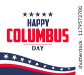 happy columbus day. the trend... | Shutterstock .eps vector #1179573700