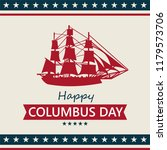 happy columbus day. the trend... | Shutterstock .eps vector #1179573706