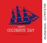happy columbus day. the trend... | Shutterstock .eps vector #1179573709