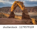 sunrise view of delicate arch...
