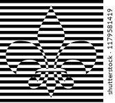 fleur delis abstract   | Shutterstock . vector #1179581419