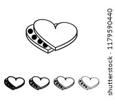 chocolates in the heart icon in ...