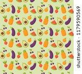 fresh fruit and vegetable... | Shutterstock .eps vector #1179590569