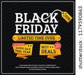black friday sale template | Shutterstock .eps vector #1179590863