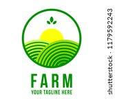 farm logo template | Shutterstock .eps vector #1179592243
